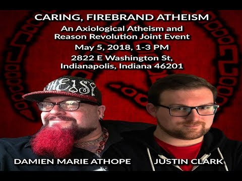 Justin Clark opening for my Caring Firebrand Atheist Activism event