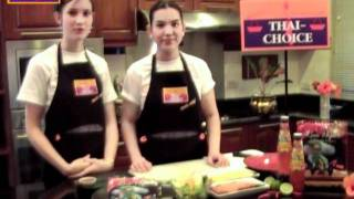 Thai-choice Fusion Recipe, Fresh Mango And Smoked Duck Spring Rolls