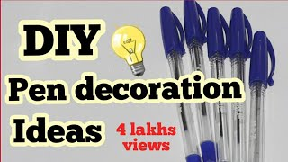 4 Easy DIY Pen Decorations Back to School Supplies | craft Compilation