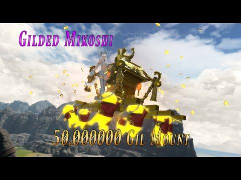 FFXIV: Gilded Mikoshi - 50 Million Gil Mount