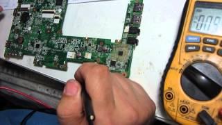 Жөндеу нетбук Acer Aspire One D257 Quanta ZE6 E құйылды сумен