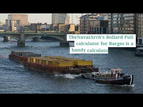 Bollard Pull Calculation for Barges   TheNavalArch