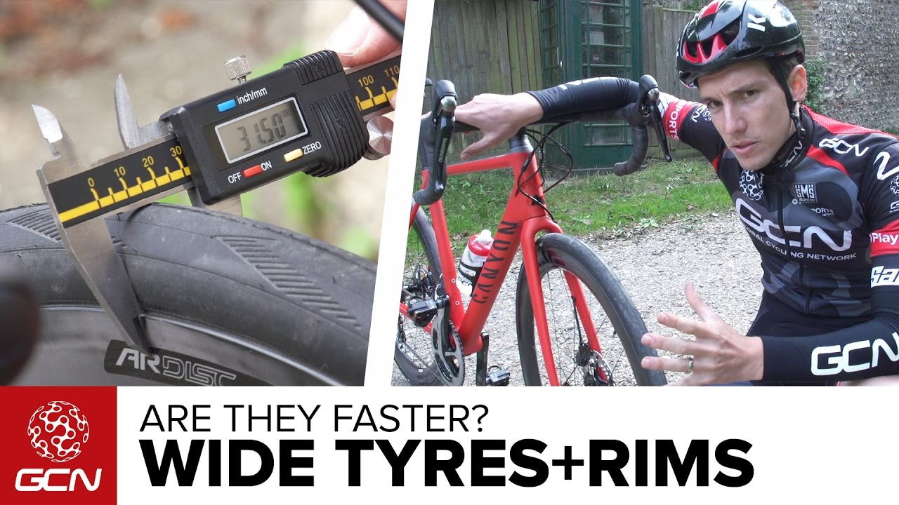 the truth about wide tyres and wide rims on road bikes - youtube
