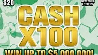 Live! Cash X100 NY Instant Lottery Ticket Winner #2