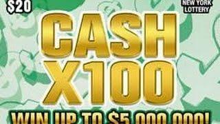 Live! Cash X100 NY Instant Lottery Ticket Winner #2