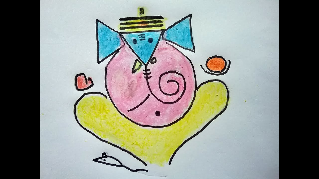 Lord Ganesh Simple Drawing For Kids Ganapathi Easy Drawing Ganesh