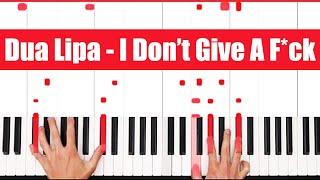 IDGAF Dua Lipa Piano Tutorial - CHORDS