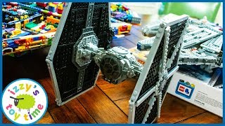 LEGO TIE FIGHTER! Father and Son Learning and Playing with Star Wars Fun Toys for Kids!