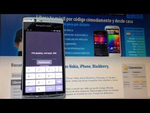 Liberar Sony Ericsson Xperia Arc S, LT18i por código, Movical.Net