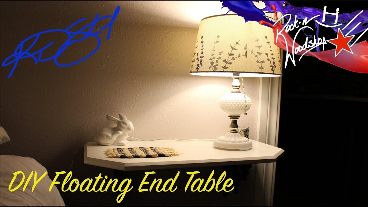 Diy floating end tables youtube for Floating side table diy