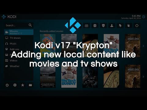 Add local/remote content to your library in Kodi v17