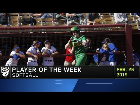 Oregon's Shaye Bowden's explosive offense earns her Pac-12 Softball Player of the Week accolades