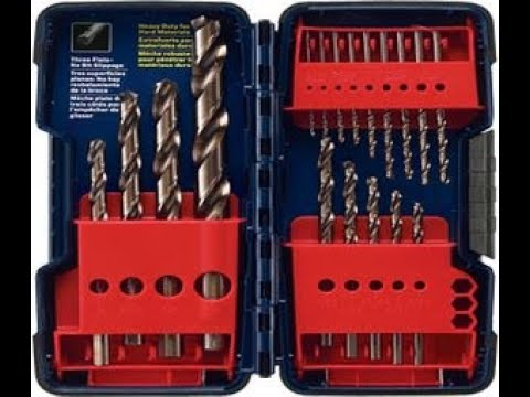 Bosch CO21 Cobalt Metal Drill Bit Set, 21 Pieces