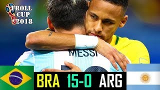 Brazil vs Argentina 15-0   All Goals & Extended Highlights RÉSUMÉ & GOLES ( Last Matches )