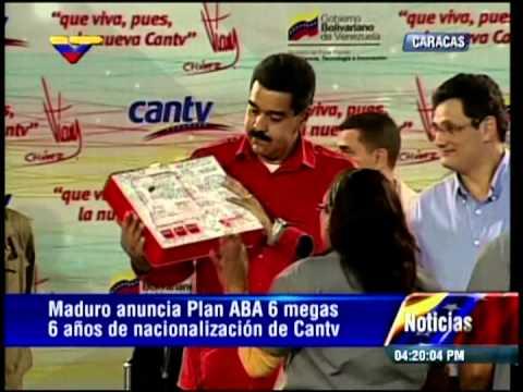 Nicolás Maduro muestra computadoras Canaimitas para Bachillerato e informa de ABA 6 Mb