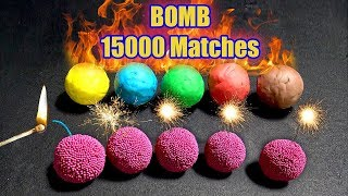 EXPERIMENT | 15000 Matches VS Play doh| Fire Ball domino SUBSCRIBE ...