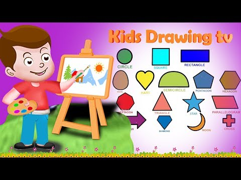 Drawing Shapes Paint And Colouring For Kids | Kids Drawing TV