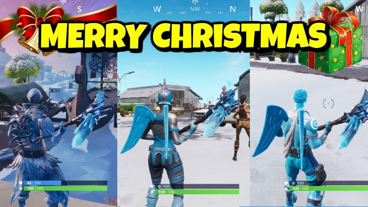 Merry Christmas Frozen Legends Bundle Gameplay In Fortnite Youtube