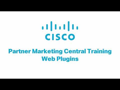 Cisco PMC | Content Syndication and Web Plug Ins