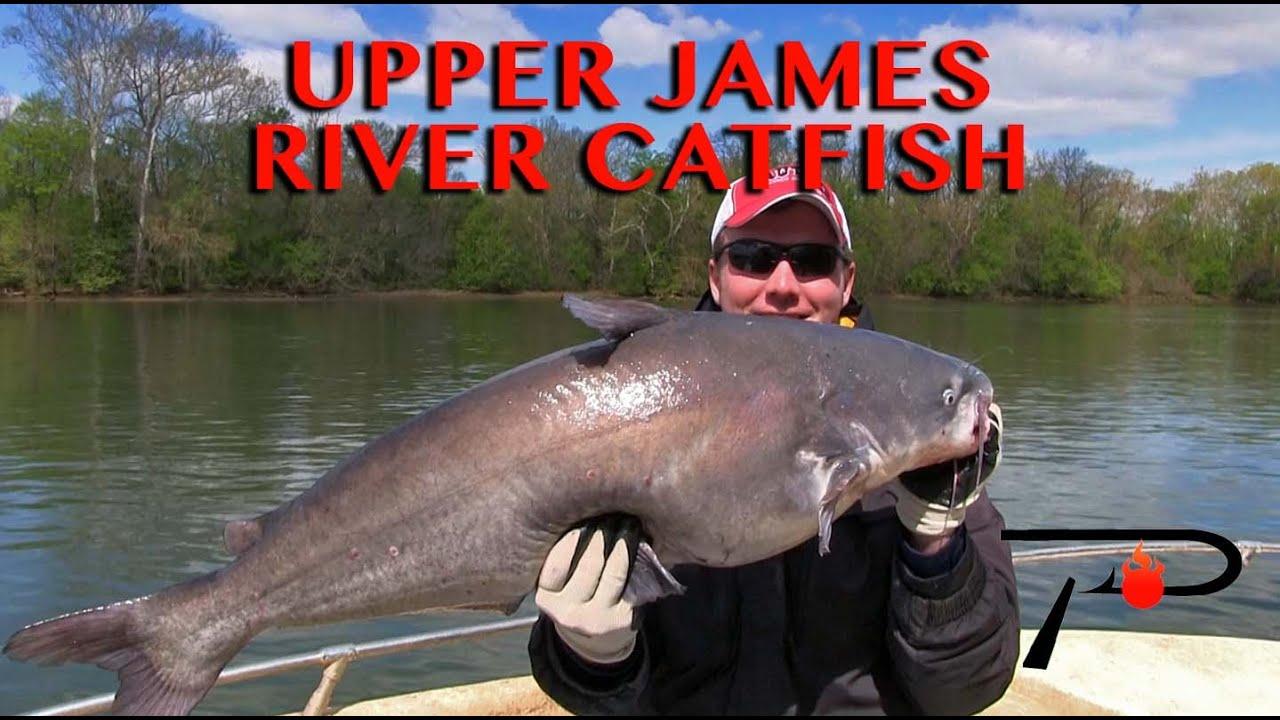 Richmond 39 s kitties james river catfish fishing youtube for James river fishing report
