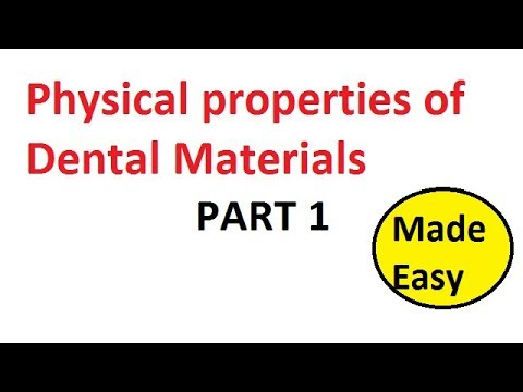 Physical properties of Dental materials: Part 1