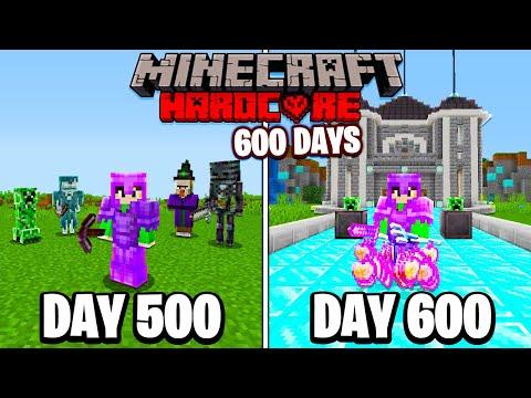 I Survived 600 Days in HARDCORE Minecraft... - Fru