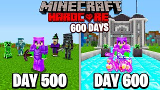I Survived 600 Days in HARDCORE Minecraft...