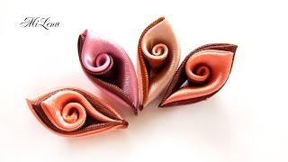 DIY Curly kanzashi petals