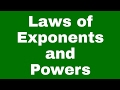 Laws of exponents and powers ll cbse icse class 7 class 8 class 9