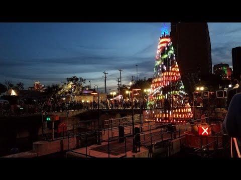 Living Light Shows 30-Foot RGB Pixel Megatree on San Antonio Riverwalk