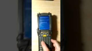 Symbol MC9090 Wireless Barcode scanner Demonstration Video