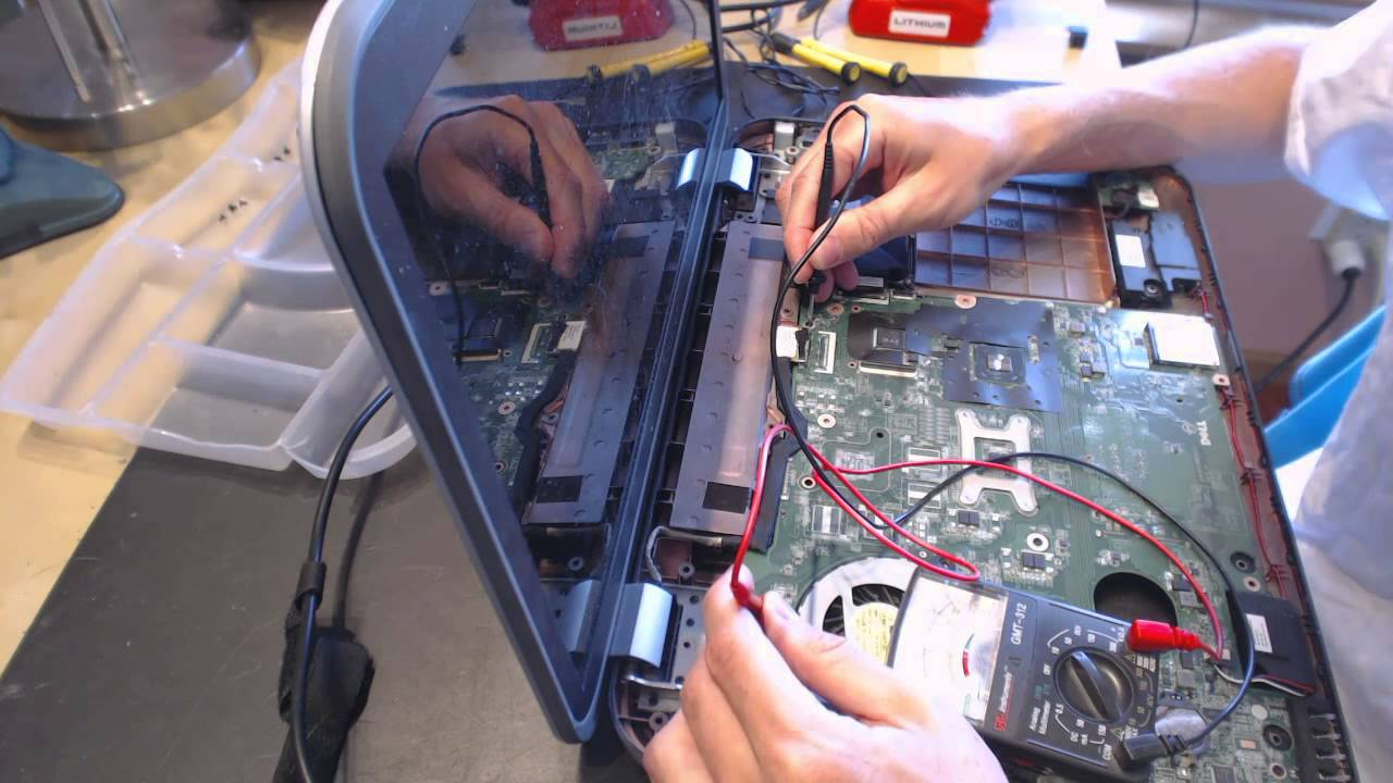 Dell Inspiron 5720 no power repair fix Laptop Power Jack Repair pushed  socket input port connector