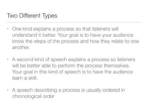 Public Speaking 5 - Speaking to Inform