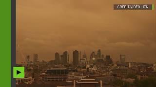 Le ciel londonien devient jaune après le passage de l'ouragan Ophelia