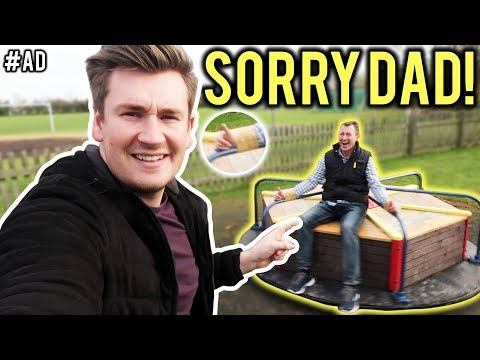 I TAPED MY DAD TO A ROUNDABOUT *PRANK* (Daddy's Home 2)