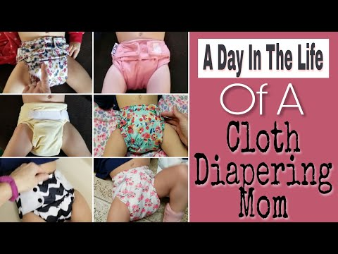 A Day of Cloth Diapering A Baby- Day In The Life Of A Cloth Diapering Mom