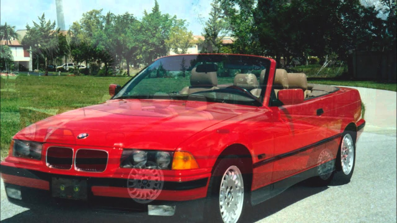 1994 bmw 325i red convertible youtube. Black Bedroom Furniture Sets. Home Design Ideas