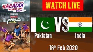 Kabaddi World Cup 2020 Live - Pakistan vs India - 16 Feb - Final | BSports