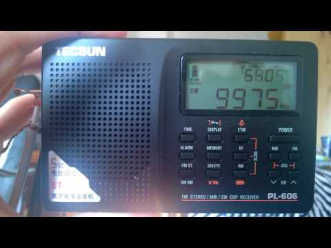 shortwave tuning: Radio free Asia in Uyghur in 9975 KHz, received in Germany