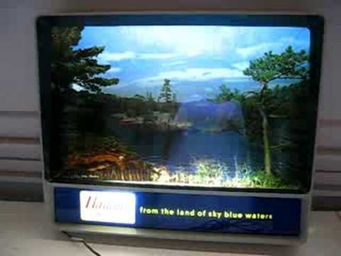 1950s Hamm S Beer Motion Rippler Waterfall Sign Rare Youtube
