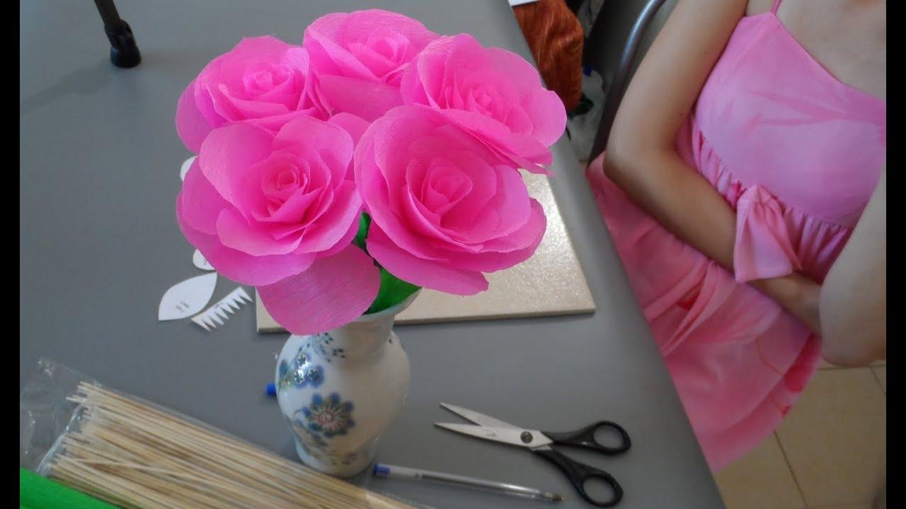 Поделки своими руками из бумаги цветы видео