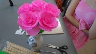 ♥ Розы из Гофрированной Бумаги. Поделки из бумаги своими руками ♥ DIY Flower Rose(Поделки из бумаги — красивый и быстрый способ украсить комнату или сделать подарок. Цветы из гофрированно..., 2014-08-24T13:39:11.000Z)