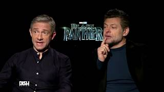 MARTIN FREEMAN & ANDY SERKIS REVEAL THEIR FAVORITE OUTFITS FROM THE 'BLACK PANTHER' PREMIERE