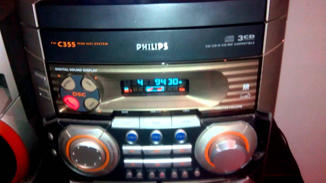 chaine hifi philips fw c355 lecteur cd technics sl p202a youtube. Black Bedroom Furniture Sets. Home Design Ideas