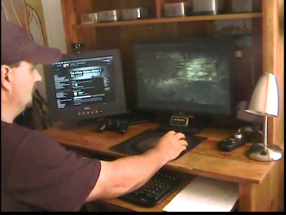 PS3 gaming using eagle eye on pc monitor - YouTube