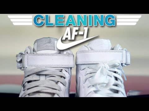 The best way possible to clean Nike Air Force One's!!!
