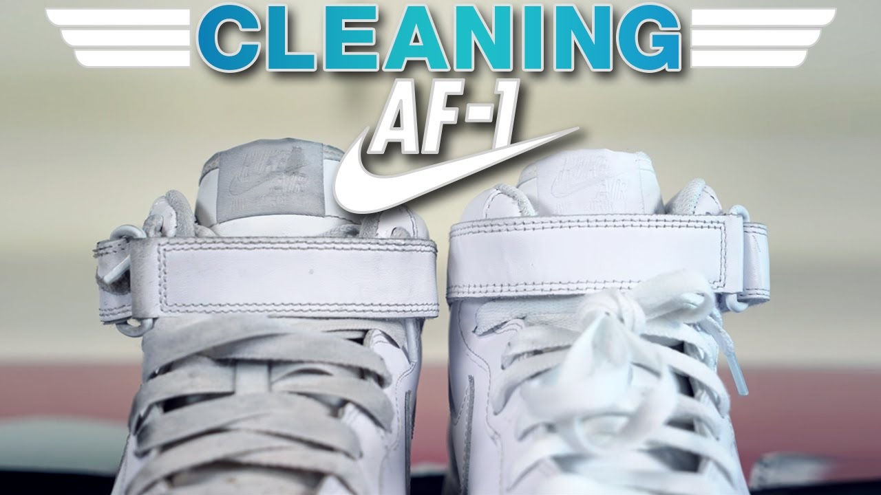 a1443c918e7 The best way possible to clean Nike Air Force One's!!! - YouTube