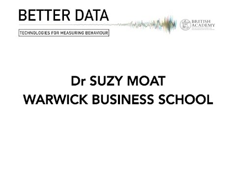 Dr Suzy Moat - Better Data