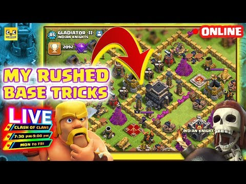 🔴 Clash of clans live. How to rescue rushed accounts. Coc Clashers