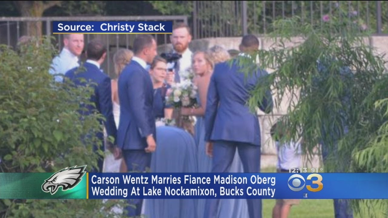Carson Wentz Wedding.Carson Wentz Maddie Oberg Officially Tie The Knot